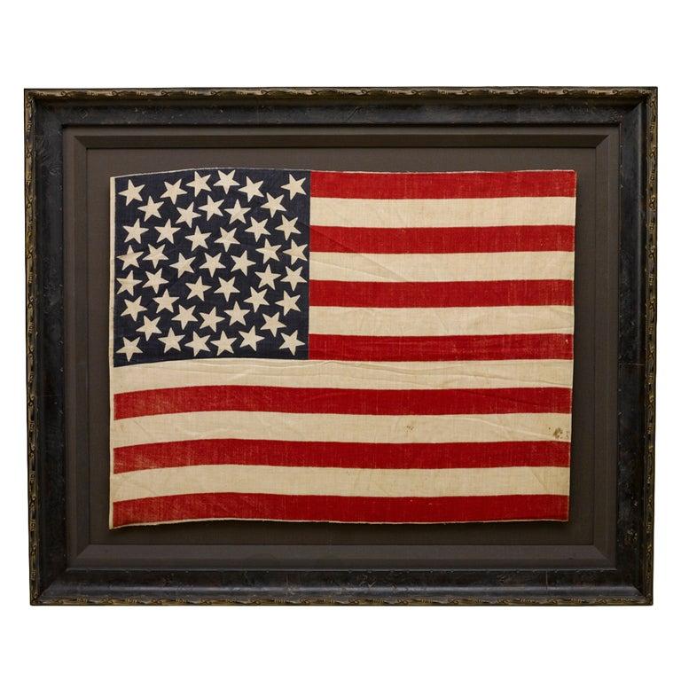 45 Star U S Flag Medallion Configuration Utah Statehood