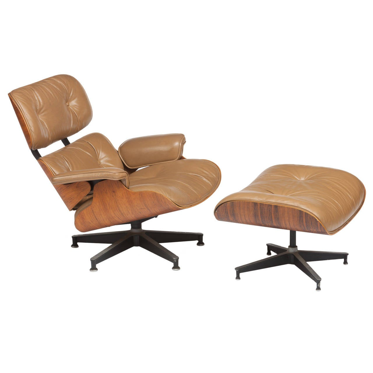 Eames 670 671 Rosewood Lounge Chair And Ottoman For Herman Miller At 1stdibs