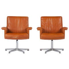 Pair of De Sede Lounge Chairs