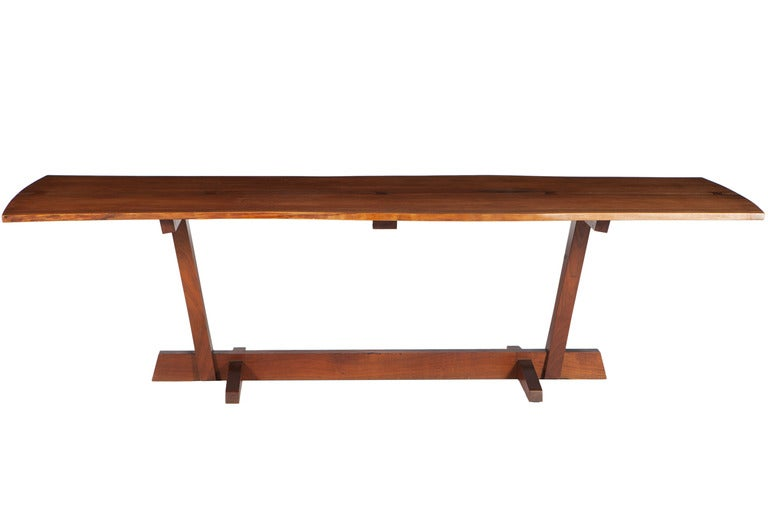 George nakashima 9 ft conoid dining table at 1stdibs for 5 foot dining room table