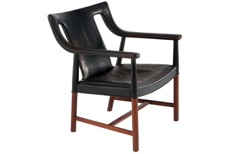 Lounge Chair by Ejner Larsen & A. Bender Madsen For Sale