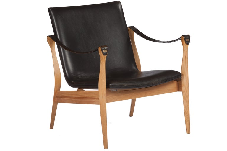 Danish Lounge Chair by Karen and Ebbe Clemmensen For Sale