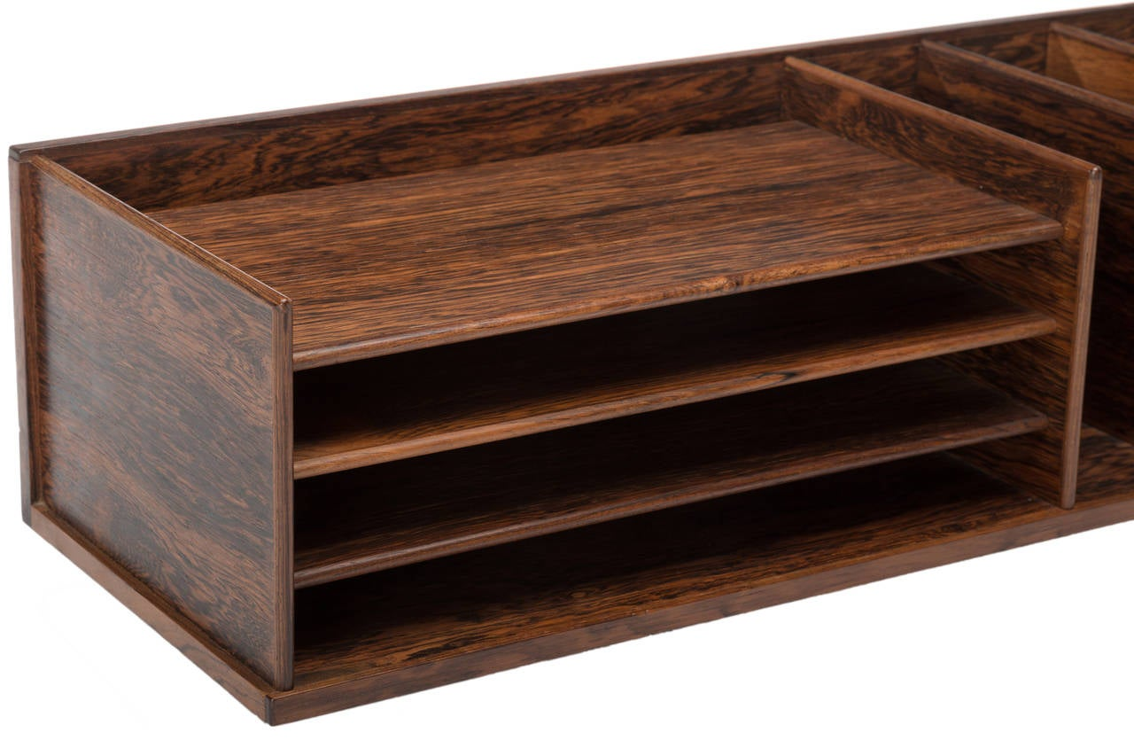 danish rosewood desktop letter organizer by georg petersens for sale 3