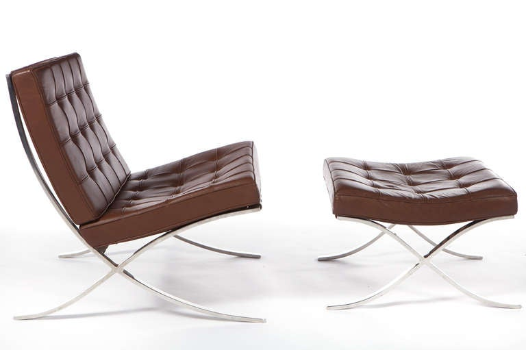 barcelona chairs by ludwig mies van der rohe for knoll at 1stdibs