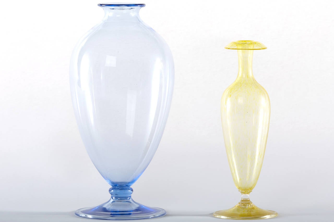 20th Century Collection of Ten Early Italian Glass Vases, Venini, 1900-1920 For Sale