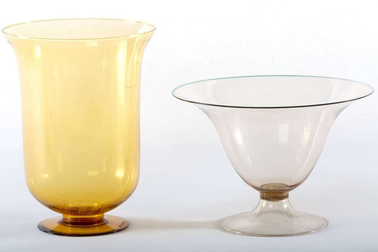 Collection of Ten Early Italian Glass Vases, Venini, 1900-1920 For Sale 1