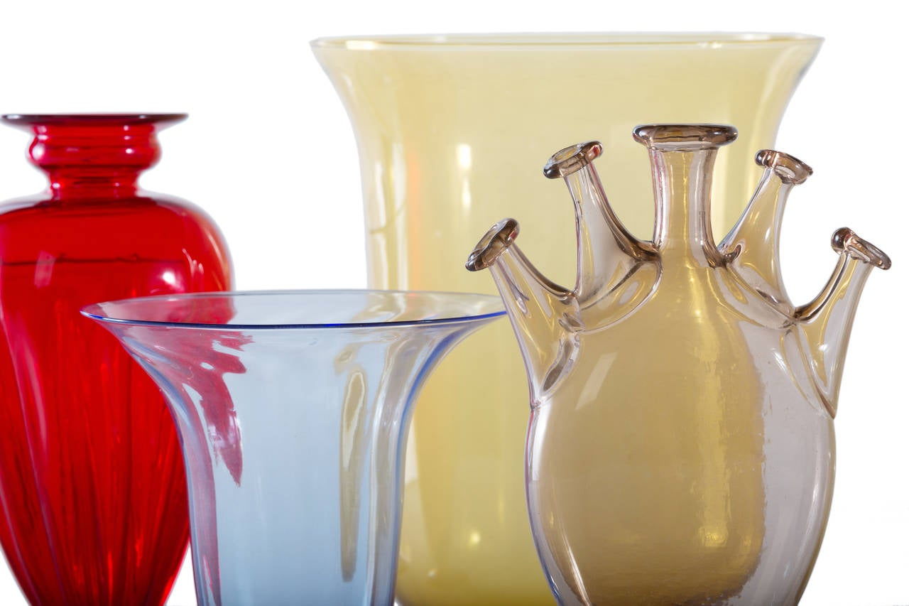 Collection of Ten Early Italian Glass Vases, Venini, 1900-1920 For Sale 3