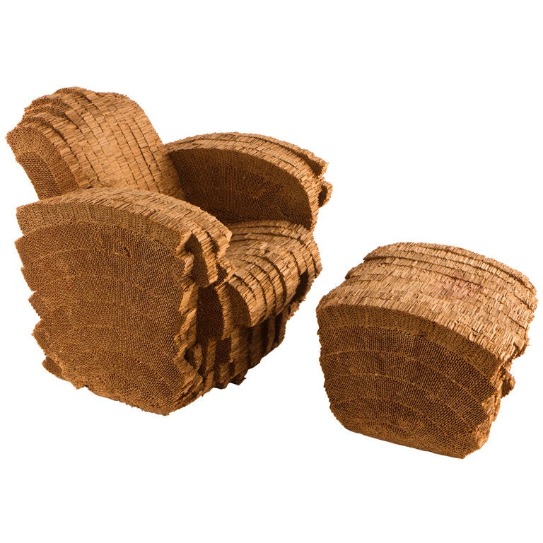 Frank O Gehry Little Beaver Chair And Ottoman At 1stdibs