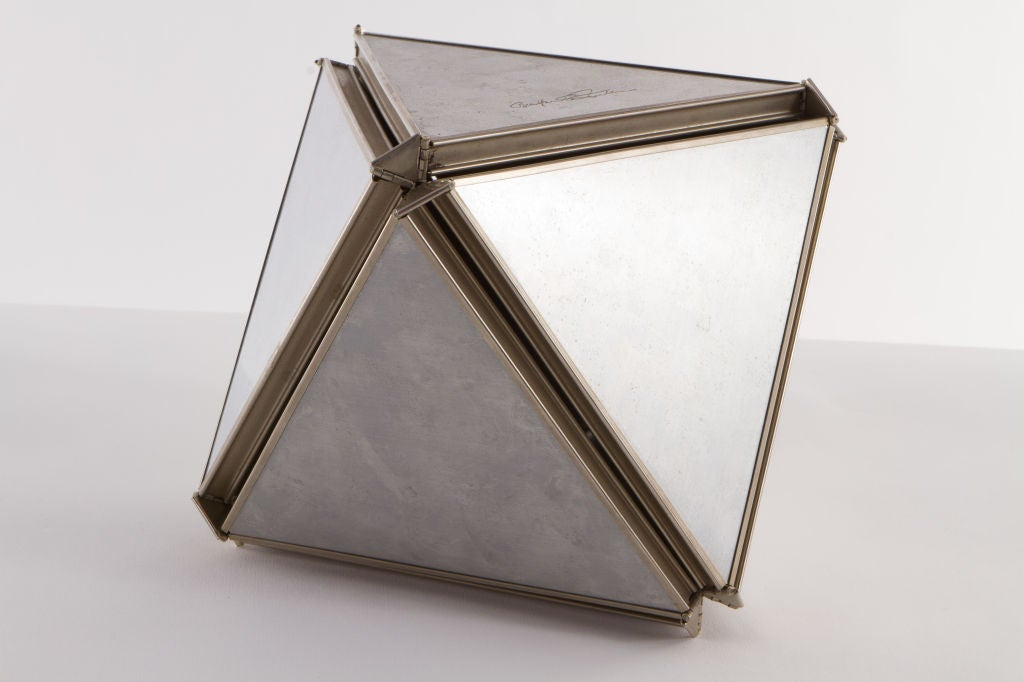 "Kinetic polyhedron sculpture ""Jitterbug Atom"" by Buckminster Fuller, with incised signature to one panel 'Buckminster Fuller'. From an edition of 500."