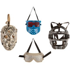 Collection of 4 Graffiti Masks By L.A. II Angel Ortiz