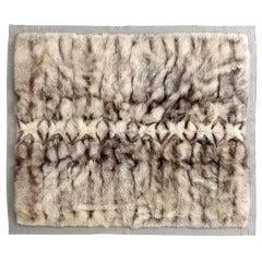 Rare Hermes Fur Throw Blanket