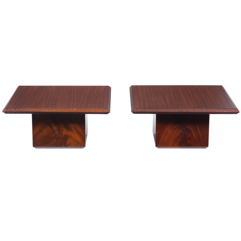 Pair of Frank Lloyd Wright Side Tables for Heritage Henredon
