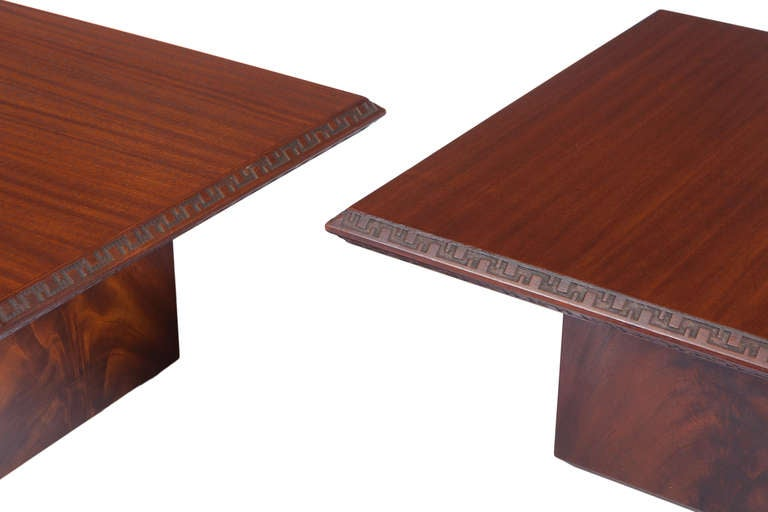 Pair of Frank Lloyd Wright Side Tables for Heritage Henredon 7
