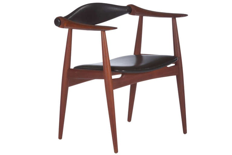 Carl Hansen Chairs six hans wegner dining chairs, model ch34, for carl hansen for
