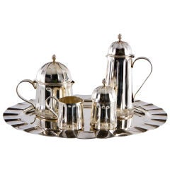 Sterling Coffee and Tea Service by Massimo Vignelli