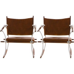 Matched Pair of Rosewood Jens Quistgaard Lounge Chairs