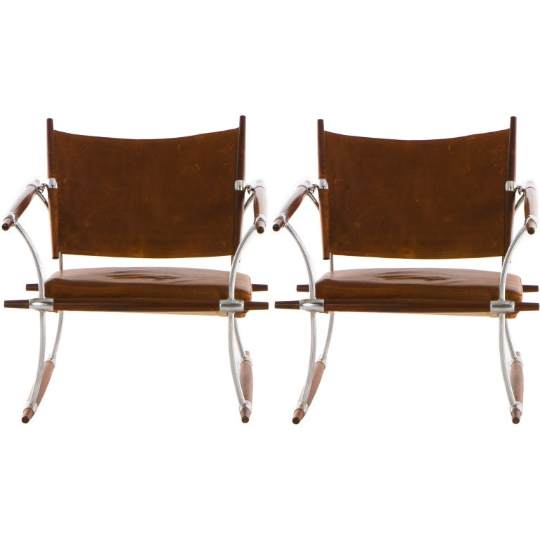 Matched Pair of Rosewood Jens Quistgaard for Nissen Lounge Chairs