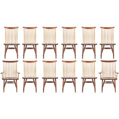 "Set Of 12 George Nakashima ""New"" Chairs"