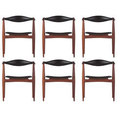 Six Hans Wegner Dining Chairs, Model CH34 for Carl Hansen