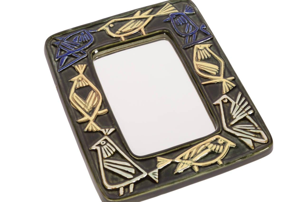 Scandinavian Modern Lisa Larson Wall Mirror for Gustavsberg For Sale