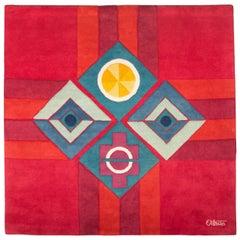 """George Ortman Handwoven Wool Tapestry, """"Seeing Is Believing"""""""