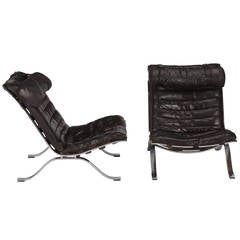 """Pair of Signed Arne Norell """"Ari"""" Easy Chairs"""