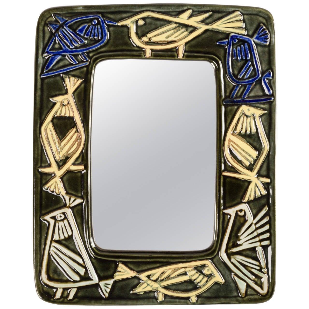 Lisa Larson Wall Mirror for Gustavsberg For Sale
