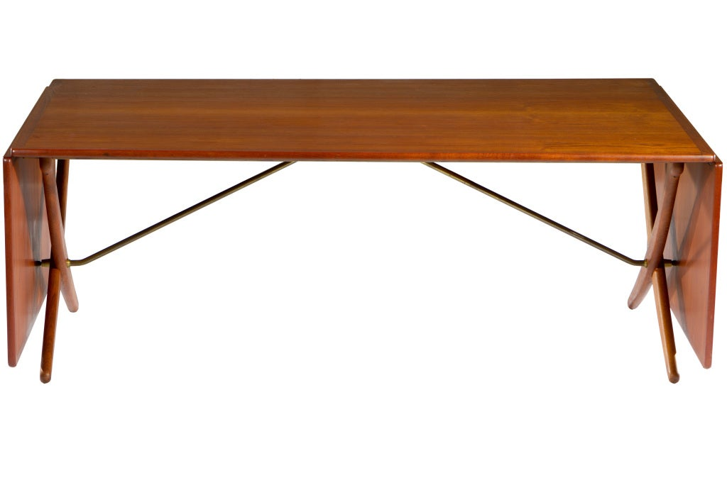 10 ft hans wegner drop leaf dining table at 1stdibs