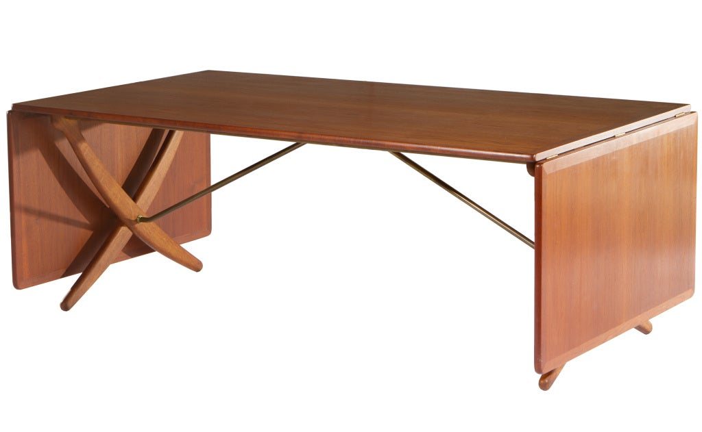10 ft hans wegner drop leaf dining table at 1stdibs for 10 ft dining room table