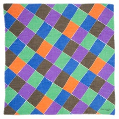 """Sonia Delaunay """" A Damiers"""" Textile"""