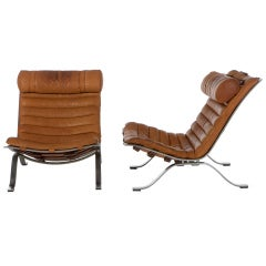 "Pair of Arne Norell "" ARI"" Lounge Chairs"