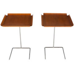 Pair Of George Nelson Adjustable Tray Tables