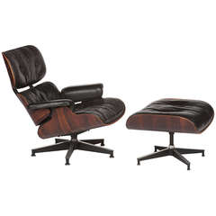 Rosewood Eames Lounge Chair and Ottoman