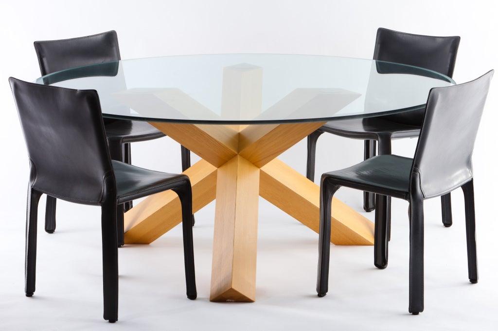 Mario Bellini La Rotonda Dining Table And 4 Cab Chairs For
