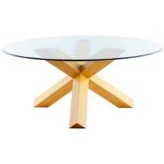 Mario Bellini La Rotonda Dining Table And 4 Cab Chairs for Cassina