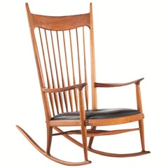 Sam Maloof Style Rocking Chair In White Oak For Sale At