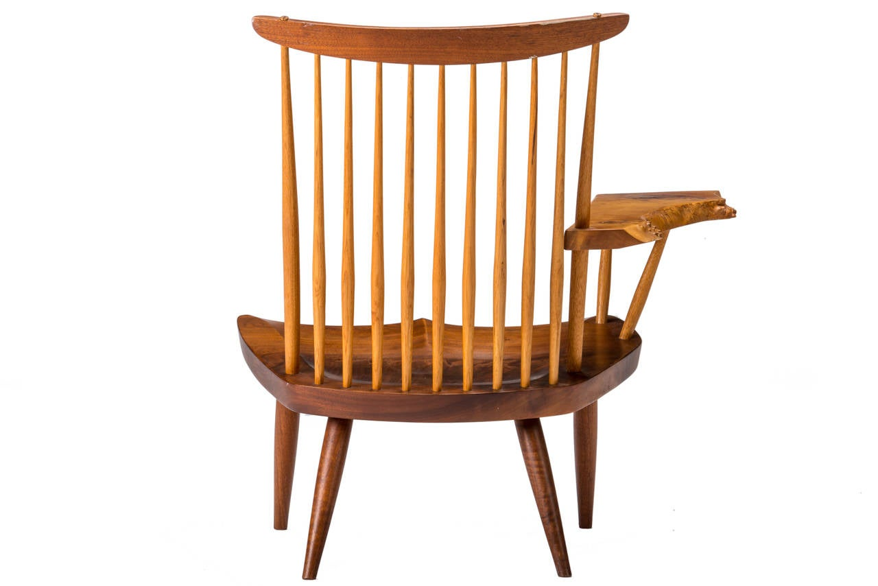 George Nakashima Chairs exceptional george nakashima single-arm lounge chair at 1stdibs