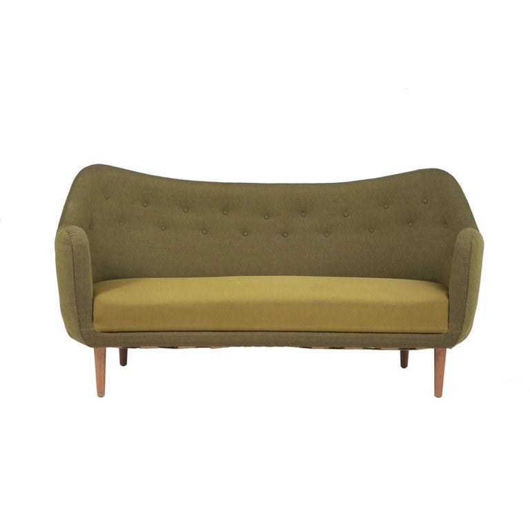 finn juhl sofa for bovirke at 1stdibs. Black Bedroom Furniture Sets. Home Design Ideas