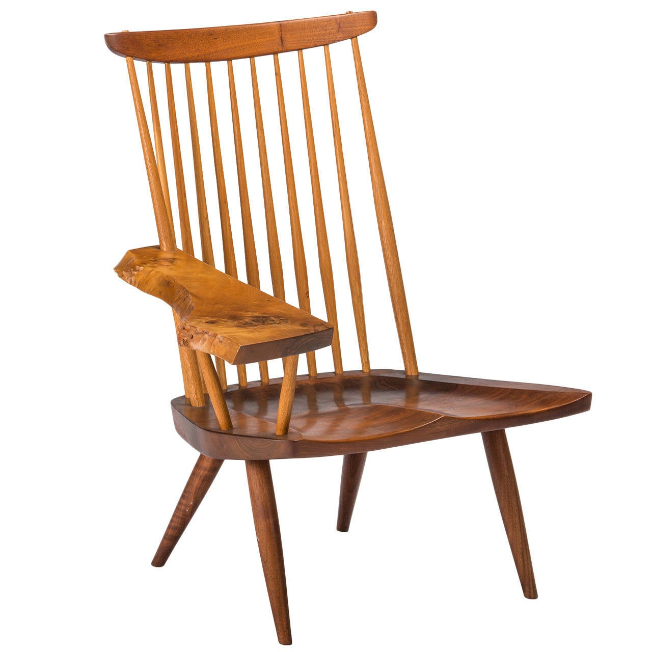 Exceptional George Nakashima Single Arm Lounge Chair At