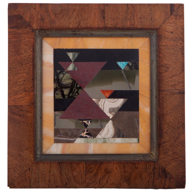 Richard Blow For Montici Pietra Dura Geometric Composition