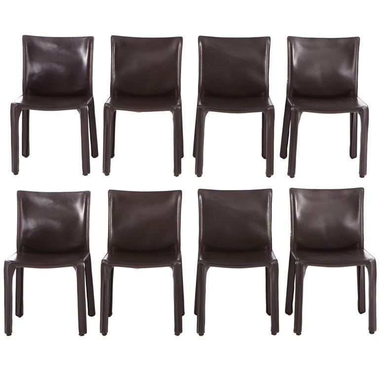 8 Dark Brown Mario Bellini CAB Chairs For Cassina at 1stdibs – Mario Bellini Chair