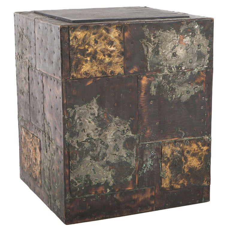 """Paul Evans """"Patchwork"""" Side Table at 1stdibs"""