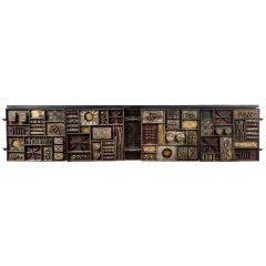 """Paul Evans 8 Ft. Wall Hanging """"Sculpture Front' Cabinet"""