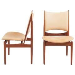 Pair Of Finn Juhl Egyptian Chairs