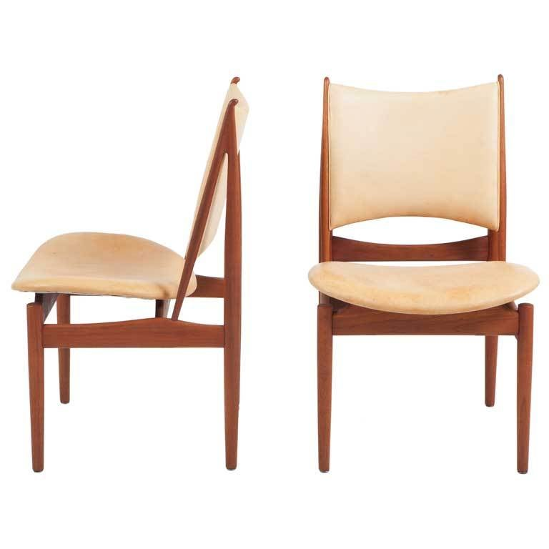 Pair Of Finn Juhl Egyptian Chairs 1