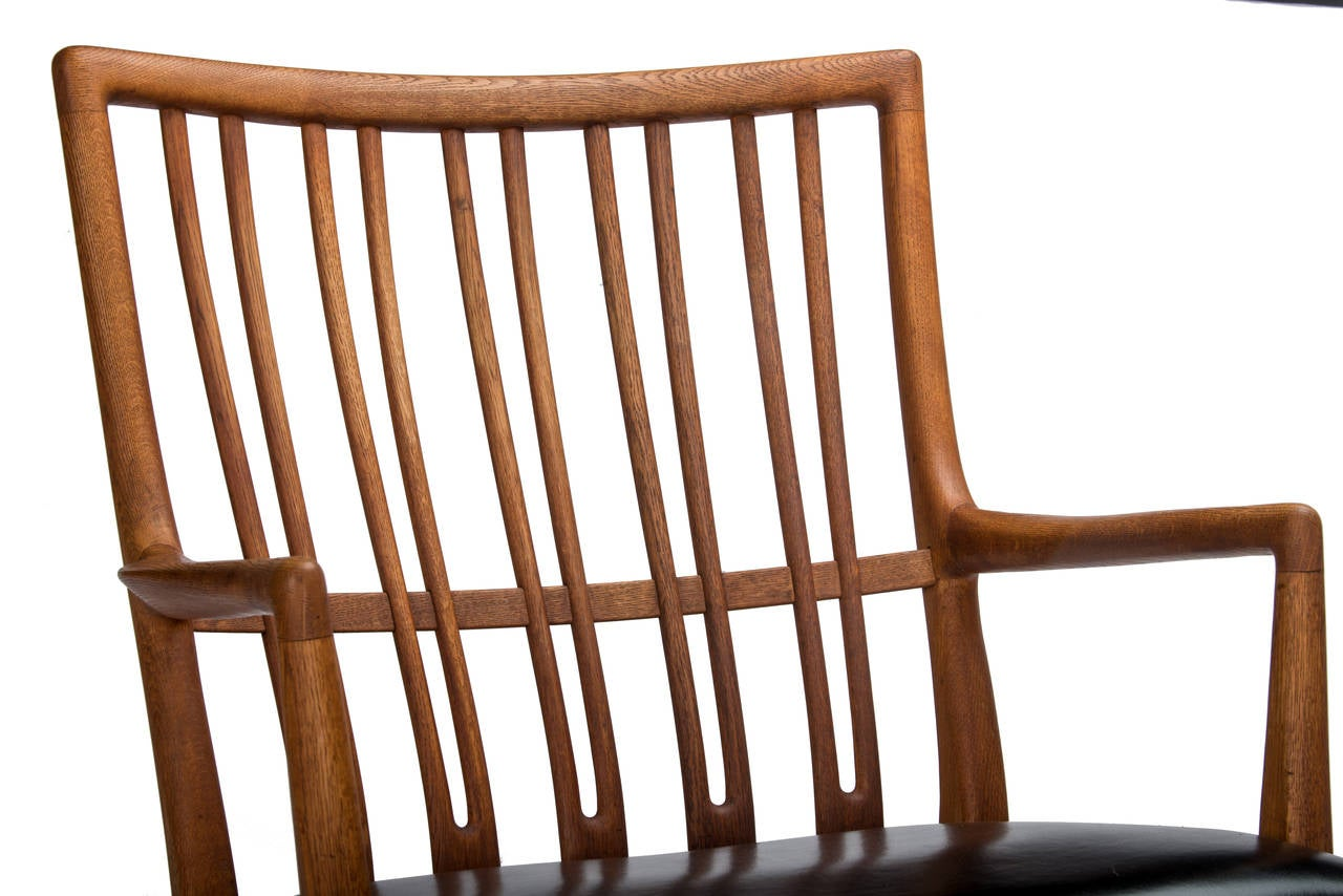 Hans Wegner for Mikael Laursen ML-33 Rocking Chair In Excellent Condition For Sale In Pawtucket, RI