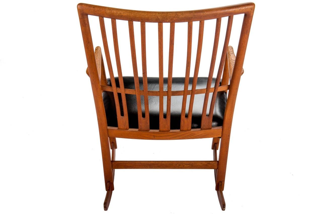Danish Hans Wegner for Mikael Laursen ML-33 Rocking Chair For Sale
