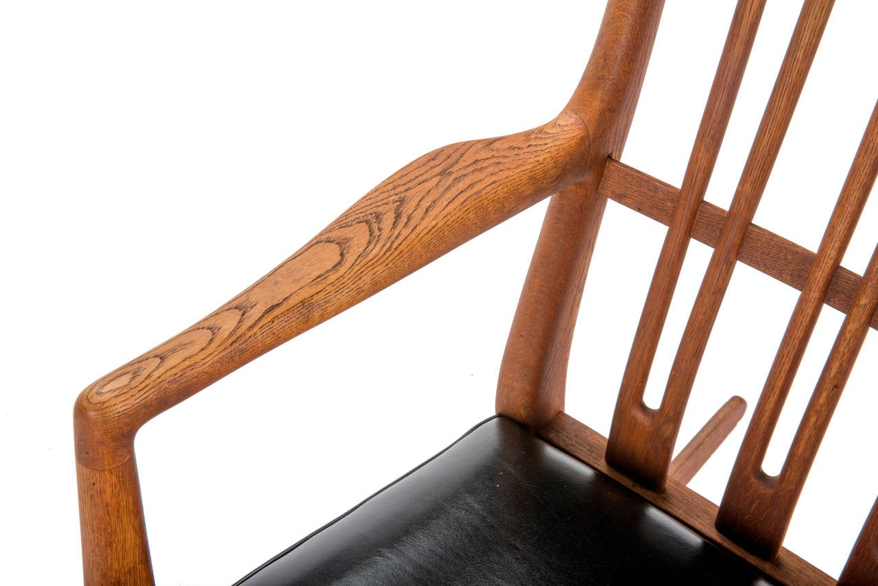 Mid-20th Century Hans Wegner for Mikael Laursen ML-33 Rocking Chair For Sale