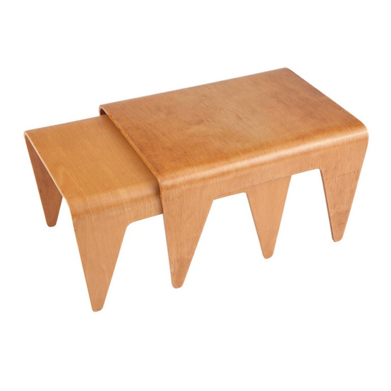 Pair of Marcel Breuer nesting tables for Isokon at 1stdibs