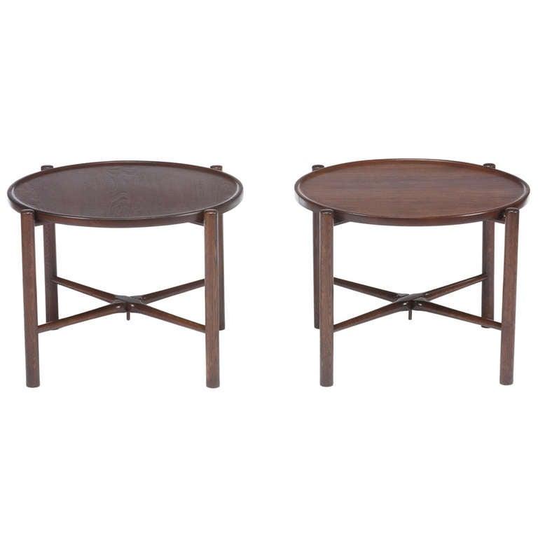 Pair Of Hans Wegner Folding Side Tables 1